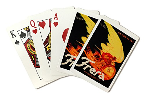 Frera - Non Corre Ma Vola Vintage Poster (artist: Codognato) Italy c. 1929 (Playing Card Deck - 52 Card Poker Size with Jokers) (Codognato Poster)