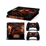 PlayStation 4 Skin Decal Sticker Set - World of Warcraft: Cataclysm (1 Console Sticker + 2 Controller Stickers) by SE Decor