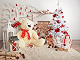 Yelewen 7x5ft Christmas Tree Gifts & Doll Bear Thin Vinyl Customized Digital Printed Photography Backdrop Prop Photo Background
