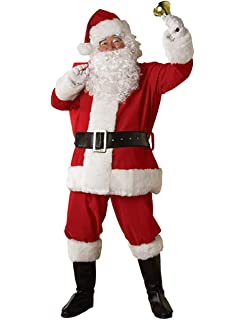 MENS ADULT SANTA CLAUSE FATHER CHRISTMAS FANCY DRESS UP COSTUME