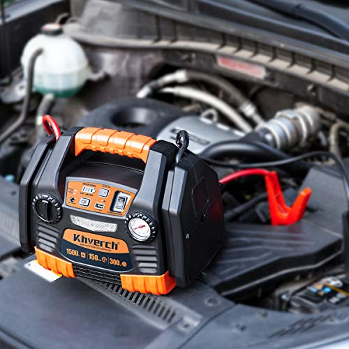 Kinverch Portable Power Station Jump Starter 1500 Peak/750 Instant Amps with 300W Inverter,150 PSI Air Compressor by kinverch (Image #6)