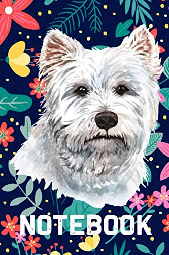 Notebook: Lined Notebook for West Highland White Terrier Dog lovers - 120 Lined Pages, 6x9 - Dog Journal Planner