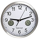 H-B DURAC Multi-Function Analog Clock with Indoor/Outdoor Thermometer and Min/Max Memory (B61700-0800)