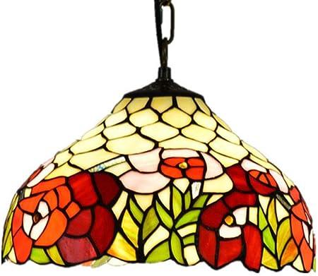 IV ydzxx Tiffany Style Romantique Luminaire Suspension, 12