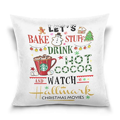 Aibileen Let's Bake Stuff Drink hot Cocoa and Watch Christmas Movies,Pillowcase,Home Decor for Sofa,Gift