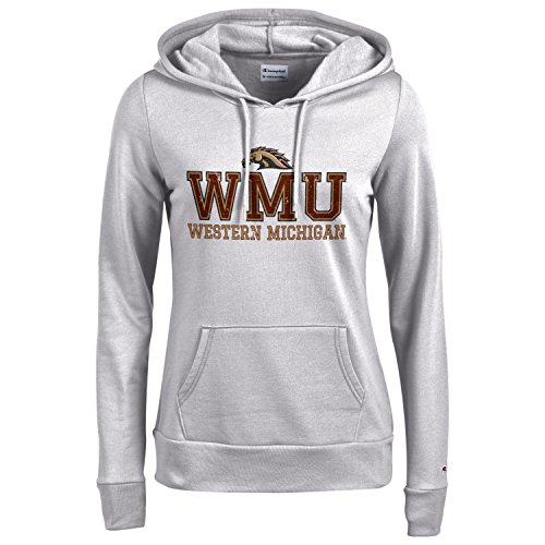 (Champion NCAA Women's Comfy Fitted Sweatshirt University Fleece Hoodie Western Michigan Broncos Large )