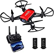 SANROCK H818 Drone for Kids, Mini Quadcopter with 720P HD Real-time Camera, Support Altitude Hold, Route Mode,