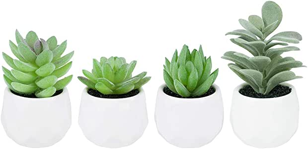 Qu/_ KQ/_ 1Pcs Artificial Succulent Plant Fake Aloe Realistic DIY Home Room Decor