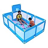 Playpen Kids Ball Pit, Large Toddler Ball Pits Tent for Toddlers, Children for Indoor Outdoor Baby Ball Pool Playpen with Zipper Door, Balls Not Included (Blue)