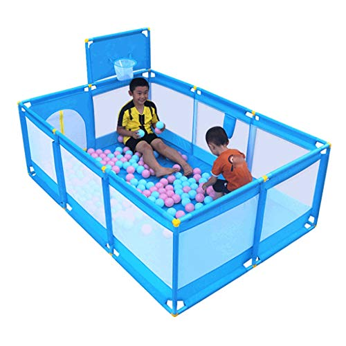 Playpen Kids Ball Pit, Large Toddler Ball Pits Tent for Toddlers, Children for Indoor Outdoor Baby Ball Pool Playpen with Zipper Door, Balls Not Included (Blue) by CGF- Baby Playpen (Image #7)