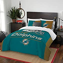 Miami Dolphins Full Comforter, Logo'd Sheets & Shams (7 Piece Bed In A Bag) + HOMEMADE WAX MELTS