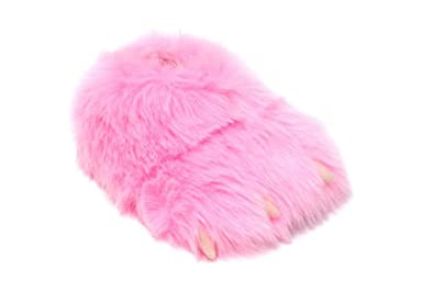 2ae6d4a8dd4 Monster Slippers Men s   Women s Novelty Pink Monster Claw Animal Slippers  4.5 ...