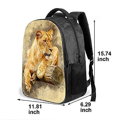 SARA NELL Kids School Bag Africa Tiger On Wood Vintage Design School Backpack Bookbag For Boys Girls | Kids' Backpacks