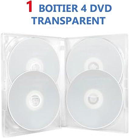 1 DVD Center-Caja para 4 DVD, transparente: Amazon.es: Oficina y ...