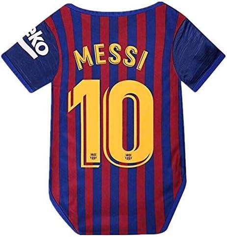 Amazon.com: Barcelona Home #10 Messi - Body de fútbol para ...