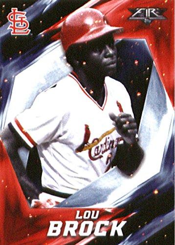 Lou Baseball Brock Card (2017 Topps Fire #47 Lou Brock St. Louis Cardinals Baseball Card)