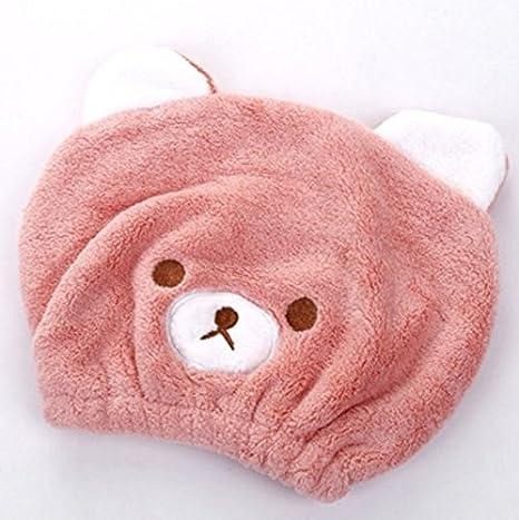 SUxian Diseño Moderno Sombrero de Pelo seco Absorbente para bebés Toalla Gorro de baño Gorro de baño-Rosa: Amazon.es: Hogar