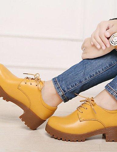 Eu36 us8 Amarillo Ggx Robusto De Yellow Napa Uk3 cuero Beige negro Y 5 zapatillas tacones tacón Black 5 Mujer Deporte Cn35 Eu39 us5 oficina Casual Cn40 5 5 Trabajo Uk6 TrFxF6qaw
