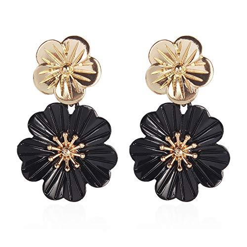 434c7b56b62f YAZILIND Pendientes de aleación simples Pendientes Pendientes colgantes en  forma de flor Regalos de joyería para