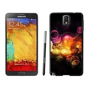 NEW Unique Custom Designed Samsung Galaxy Note 3 N900A N900V N900P N900T Phone Case With Orange Bubbles_Black Phone Case