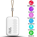 Smart Tag NUT Mini Bluetooth Anti-lost GPS Tracker Tracking Wallet Pets Key Finder Locator Sensor Remote Alarm for iOS/ iPhone/ iPod/ iPad/ Android (White)