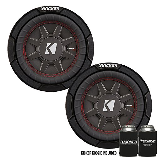 Kicker 43CWRT672 6.75″ Dual Voice Coil 2 ohm Slim line Truck woofers Bundle