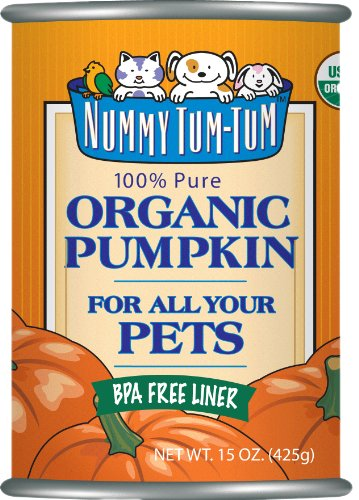 Nummy Tum Tum Pure Pumpkin For Pets, 15-Ounce Cans (Pack of 12), My Pet Supplies