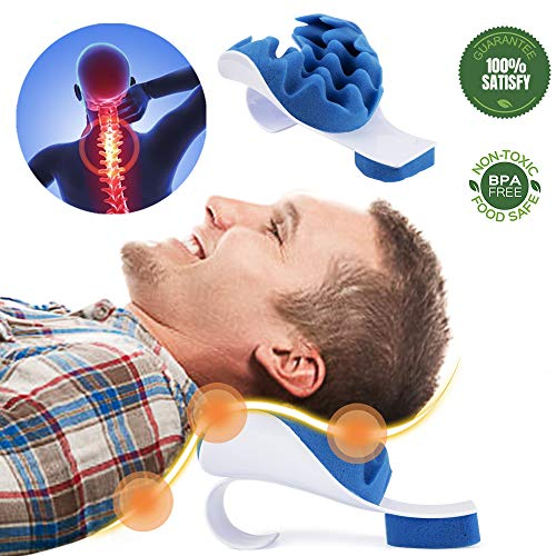 Aquapro Chiropractic Pillow - Neck and Shoulder Relaxer Cervical Pillow Neck Traction Device for Pain Relief Management and Cervical Spine Alignment