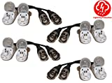 Evertech 4 Pairs (8 Pcs) Tool Less Crimp Mount Passive Video Balun with Lightning Protection Compact Size UTP CAT5/CAT6