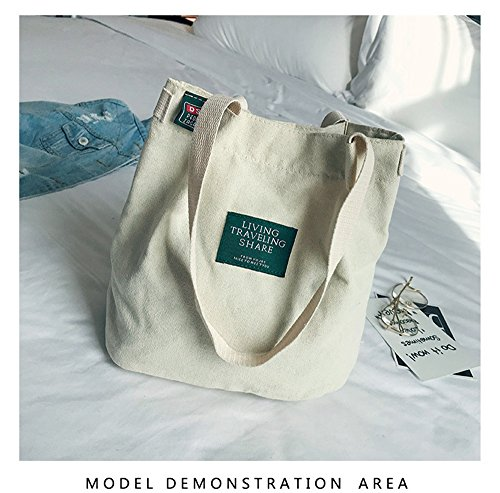Bag Bag Bag Shoulder Bag Casual Canvas Women's Handbag Beige Shopping Crossbody ZIIPOR Hobo YwtPaP