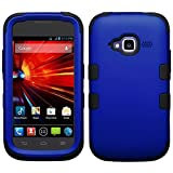 zte concord ii case - Asmyna Titanium TUFF Hybrid Phone Protector Cover for ZTE Z730 Concord II - Retail Packaging - Dark Blue/Black
