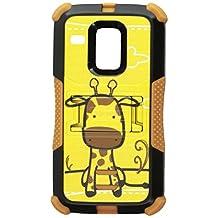 Beyond Cell Tri-Shield Durable Hybrid Hard Shell and Silicone Gel Case for Motorola Moto G XT1032-Black/Brown/Giraffe