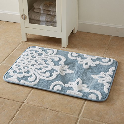 Free shipping peyton collection plush memory foam anti for International decor bathroom rugs
