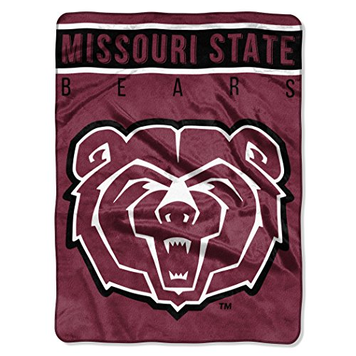 The Northwest Company Officially Licensed NCAA Missouri State Bears Basic Plush Raschel Throw Blanket, 60