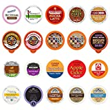 Coffee, Tea, Cider, and Hot Chocolate Single Serve Cups For Keurig Kcups Brewers, Variety Pack Sampler (Mix, 20)