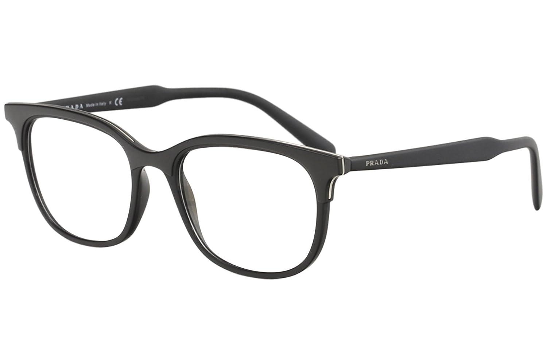 851b7b29ba Prada Lettering Logo PR 05VV Black 55/19/145 Men Eyewear Frame at ...