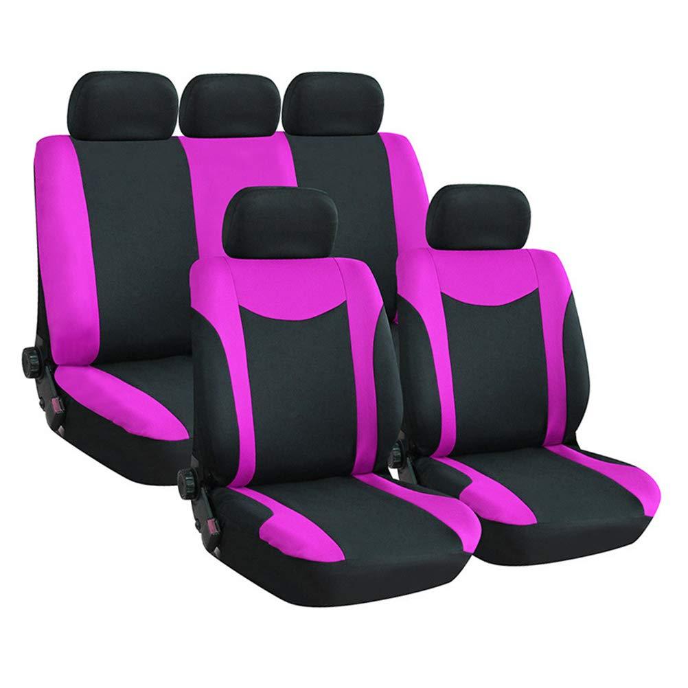 Vosarea 9-teilige Autositzbezü ge, klassisch, Autositz, Abdeckung, Set (Rosa/Rot) 1O80O61461673635W19VO