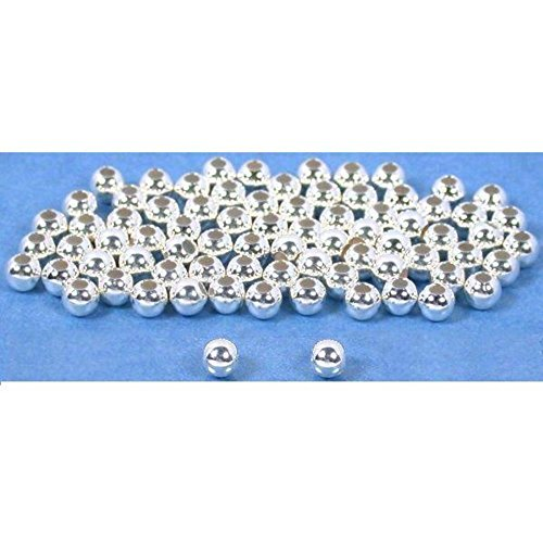 75 Ball Beads Sterling Silver Round Beading Parts 3mm
