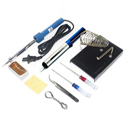 gikfun 9 in 1 60w diy electric solder starter tool kit set with iron stand desolder pump for. Black Bedroom Furniture Sets. Home Design Ideas