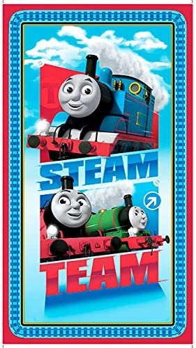 Thomas the Tank Fast Friends Quilt Panel Cotton Fabric