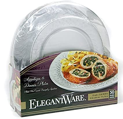 Amazon.com: Hefty Elegantware Disposable Dinner and Appetizer Plates ...