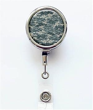 Camouflage Badge Reel Camo Badge Reel Paint Chip Badge Reel Badge Reel Resin Badge Reel