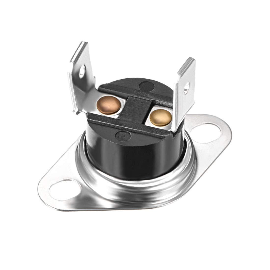Termostato de 90 /° C 10 A Normalmente abierto N.0 Ajuster Interruptor de Control de L/ímite de Disco Snap Termostato de Microondas Interruptor T/érmico 5 Piezas KSD301