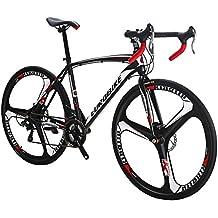 EUROBIKE Road Bike TSM550 Bike 21 Speed Dual Disc Brake 700C Wheels Road Bicycle (49cm 3-Spoke Wheel)
