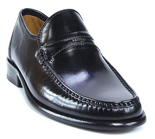 LLoyd Egmond Slipper schwarz Mokassinnaht glänzend, Farbe:schwarz;Größe:42.5