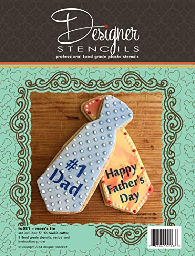 Father's Day Tie Stencils and Tin Cutter Set TS081 by Designer Stencils