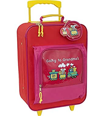 """Going to Grandma's 15.5"""" Children's Rolling Upright Suitcase Color: Blue"""