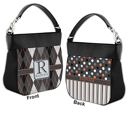 Back Trim Front amp; Argyle Personalized Modern w Leather Purse Hobo Chic Genuine fwqgAv