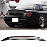Pre-painted Trunk Spoiler Fits 2000-2009 Honda S2000 | OE Style ABS Painted #NH547 Berlina Black Rear Tail Lip Other Color Available By IKON MOTORSPORTS | 2001 2002 2003 2004 2005 2006 2007 2008