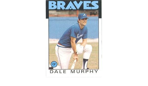 Amazoncom 1986 Topps 600 Dale Murphy Atlanta Braves